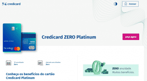 Site oficial credicard zero