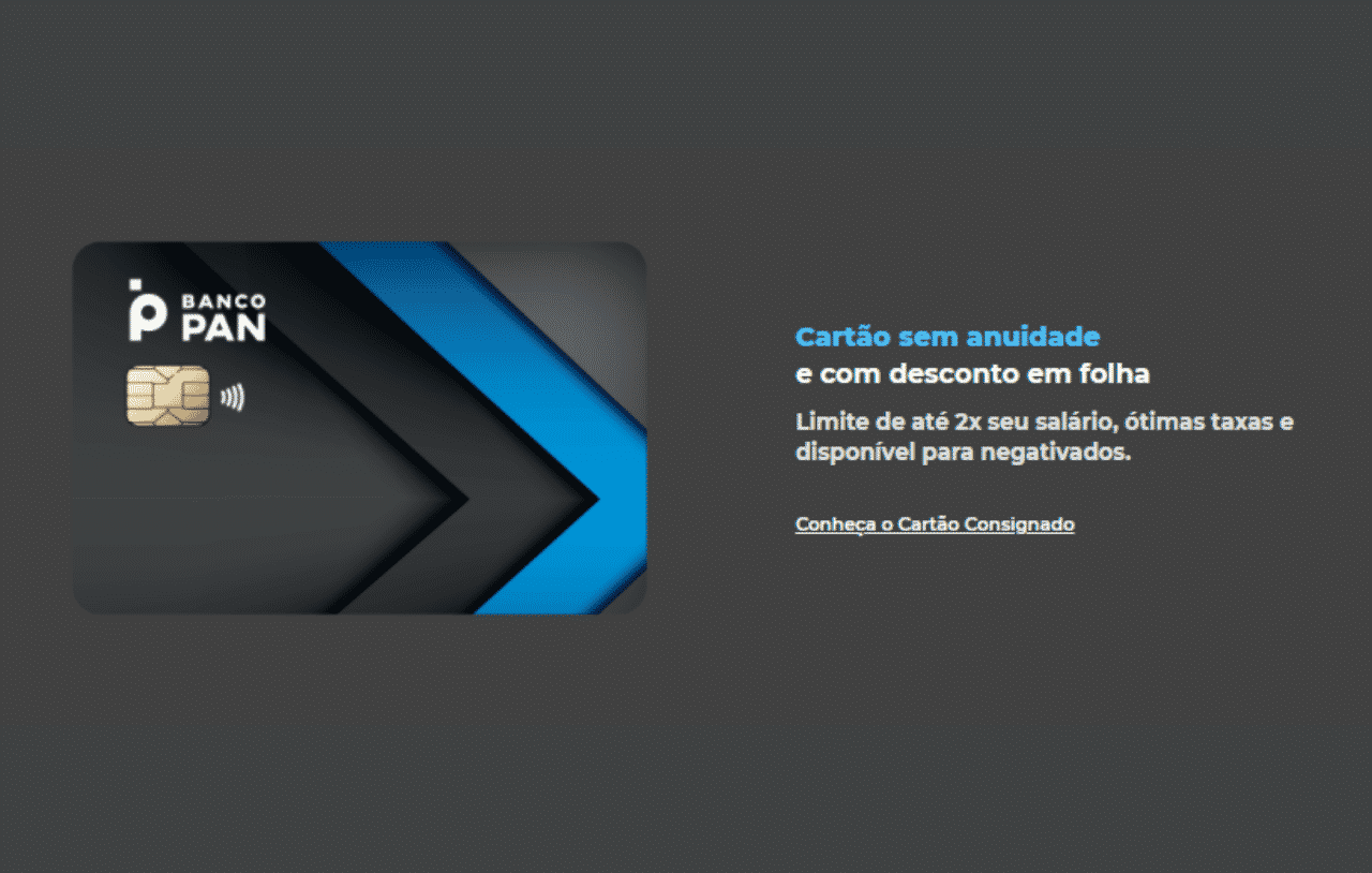 Cartão para negativados do Banco Pan